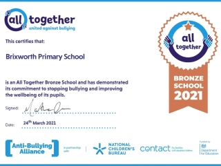 Bronze Award - Anti Bullying Alliance